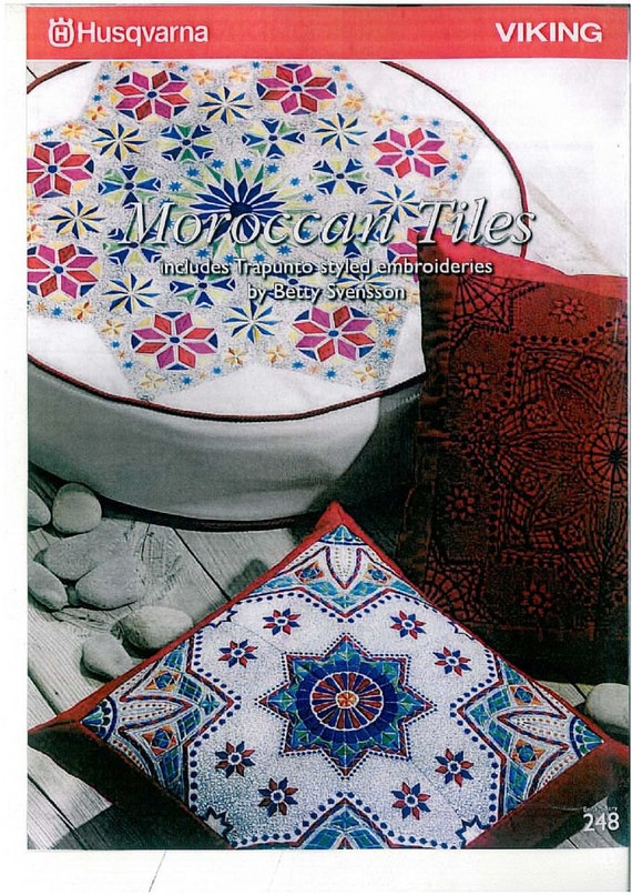 Moroccan tiles husqvarna viking machine embroidery design