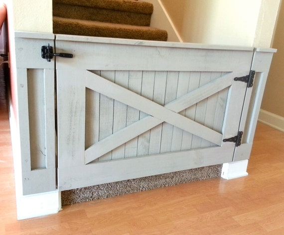 13 Diy Dog Gate Ideas: Rustic Dog/ Baby Gate Barn Door Style W/optional By