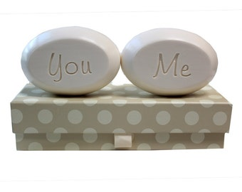 Soap Sentiments - Personalized Scented Soap Bars Engraved with You & Me