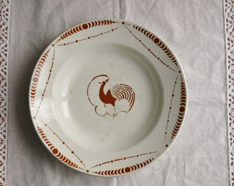 PLATES hollow old French faience