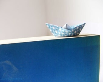 Little boat bookmarks, paper craft template, DIY, digital file instant download, natural born readers