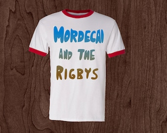 "Regular Show ""Mordecai and The Rigbys"" T shirt - Cartoon network"