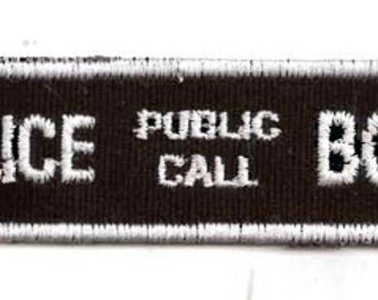 British police call box patch