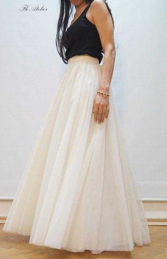 Women Tulle Skirt/Tutu Skirt/Princess Skirt/Wedding Skirt/Long ...
