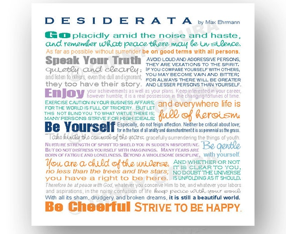 Clever image inside printable desiderata