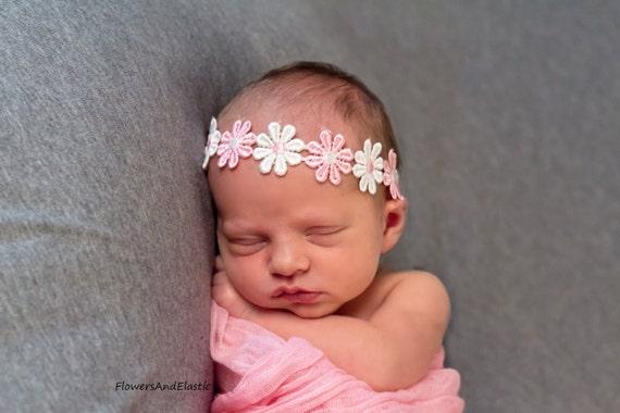 Flower Baby Headband, Newborn Headband,  Infant Headband,Baby Headband, Headband Baby, Baby Headband