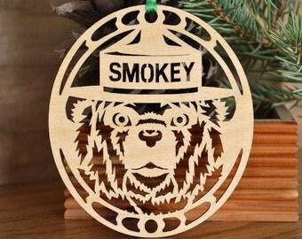 Smokey Bear ornament wood cut Smokey the Bear decoration