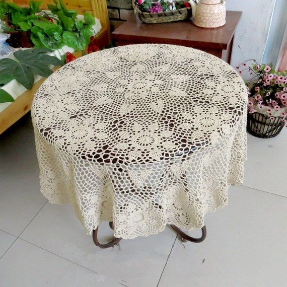 Free Crochet Patterns Round Table Toppers : Lovely Crochet pattern round table topper 100% handmade table