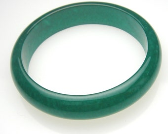 Small Imperial Green Jade Bangle Bracelet -G001S