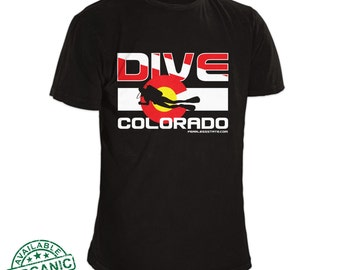 Colorado Flag Scuba Dive Shirt / Scuba Diving