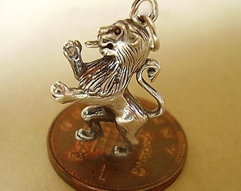 Sterling Silver Scottish Rampant Lion Charm