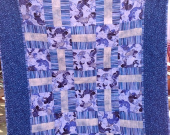 Blue Koi Fish Quilt