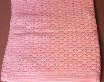 pink shell pattern baby blanket