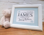 Framed Baby Name Print - Personalised Typographic Design