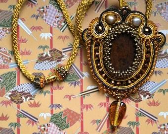The Wooden Soutache Necklace