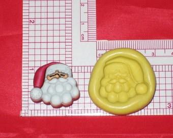 Christmas Santa  2D Flexible Push Mold A642 Fondant Silicone Cake Resin Sugar