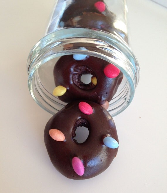 Chocolate Smarties mini donuts