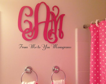 24 Inch Wooden wall Monograms, Home Decor, Office Decor, Weddings