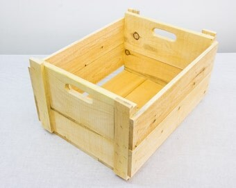 Pine crate etsy for Used apple crates