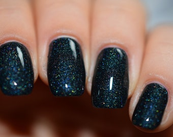 Prisonic Fairytale - Black Holographic Indie Nail Polish (12ml)
