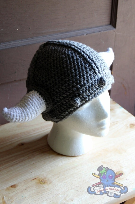 Viking Hat Knitting Pattern Free : Crochet Viking Hat