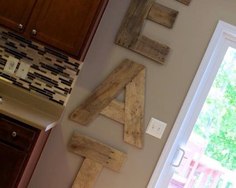 "Pallet wood ""EAT"" letters-20"" tall"