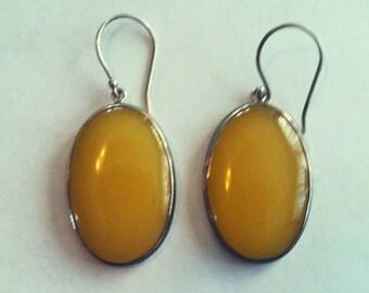 sterling silver,stone earrings