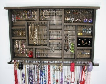 Jewelry Organizer with bangle bar