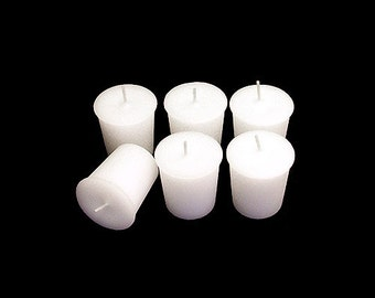 12 White Classic Hand-poured Unscented Votive Candles