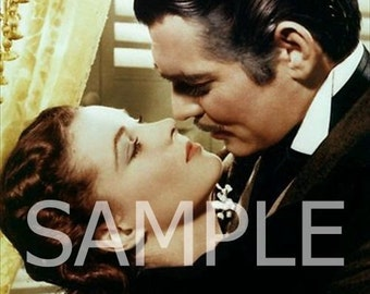 Fabric Art Quilt Block *Clark Gable & Vivien Leigh* Gone With The Wind GWTW37- FREE SHIPPING