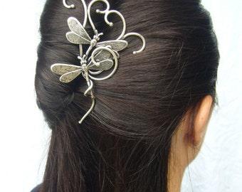 Dragonfly hairpin hair