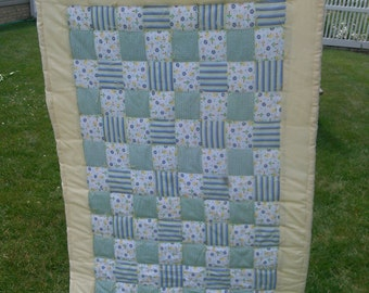 Flannel Hand Tied Baby Quilt