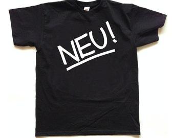 NEU! German KRAUTROCK screenprinted T SHIRT