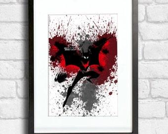 Batman Beyond Variant 1 - Splatter Art
