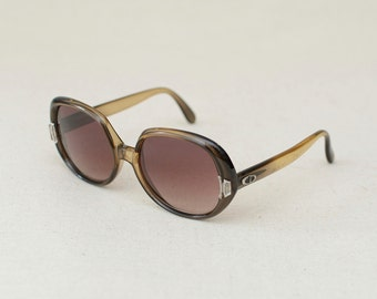 Vintage Christian Dior 648 135 51/4 Brown Lens Sunglasses Frame Germany 54-18 from 80's