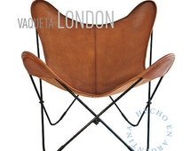 Handmade Original Butterfly Vaqueta Leather Chair from Argentina - Big BKF - AA - BKF