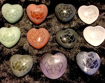 Etched Crystal Hearts