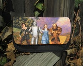 Wizard of Oz follow the yellow brick road - Makeup / Pencil / Toiletries / Bag / Tote / Case for Travel or organizing or just for a fun gift