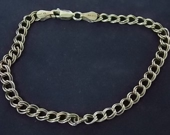 Vintage .925 Sterling Silver Chain Bracelet Made in Italy, 3.99g #E998
