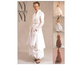 McCall's 2679 Sewing Pattern size 4 6 8 NY NY The Collection Skirt Surplice Blouse Strappy Top Balloon Skirt Dress Modern Designer
