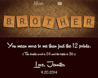 Special Gift For Brother On His Wedding Day : Print Personalized Brother Christmas Gift from Sister Gift For Brother ...