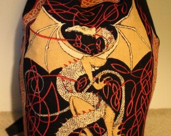 Red Celtic Dragon Backpack