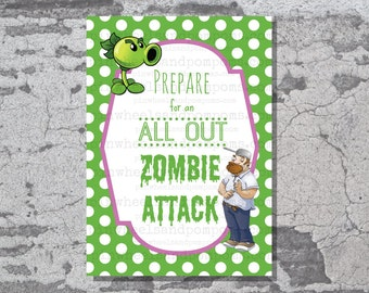 Plants vs Zombies printable - Prepare for an all out zombie attack