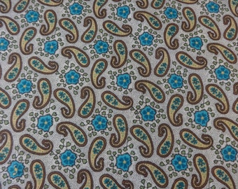 Brown Paisley w/Teal Flower Fabric 321