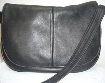 LARGE LEATHER CROSSBODY Handbag  Saddle Bag Style #169