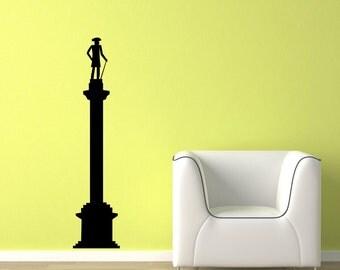 Tall Sculpture Silhouette Vinyl Wall Decal  Wall Art Sticker Room Decor