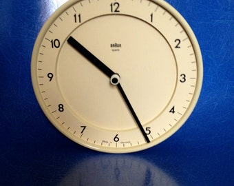 ABK 20 - or Model No. 4780 wall clock By Dietrich Lubs for Braun, 1980