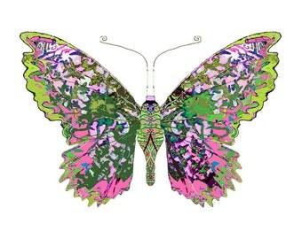 11x14 Pink Fields Butterfly Print