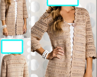 Handmade Crochet Uptown Chic Cardigan - Made to Order