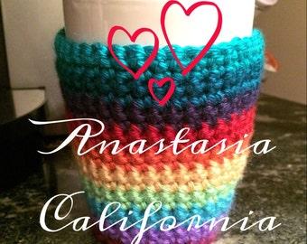 Rainbow Mug Cozy - Fully Customizable